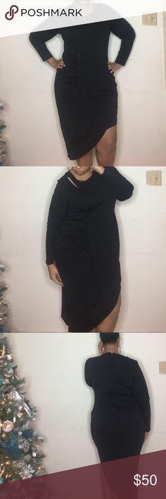 Sexy LBD Brand New Black dress perfect for Valentine's Day. City Chic Dresses Midi