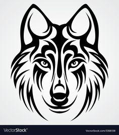 wolf silhouette tattoo - Tribal Wolf Head vector image on Wolf Tattoo Design, Tribal Wolf Tattoo, Tribal Tattoos, Shark Tattoos, Wolf Stencil, Stencil Art, Stencils, Skull Stencil, Wolf Silhouette