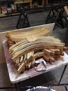 Support arches for new rain covers made by WaterFire volunteer Chee Heng Yeong for WaterFire Providence, via Flickr