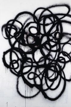 Graphic graffiti pattern, mark making inspiration // Christopher Wool