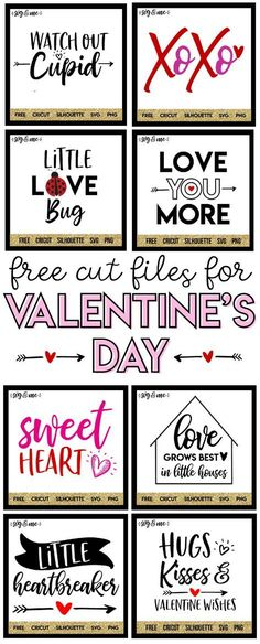 OMG! DIY Valentine's Day decor projects just got so much easier with these free SVG cut files that you can use with your Cricut, Silhouette or even just make a free printable!