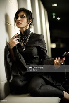 Cristina Scabbia from Lacuna Coil posed in Leeds on November 08 2008