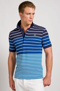 Maxwell Zagorski for Lacoste Camisa Polo, Polo T Shirts, Men's Polos, Good Looking Men, Striped Tee, Shirt Designs, Men Sweater, Mens Fashion, Mens Tops