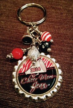 Personalized key chains make a fabulous gift for a cheerleader, Cheer Coach or the entire Cheer Team! Show your school spirit with a custom key ring designed in your school colors. The key chain can be hooked onto a cheer bag, back pack or purse! The key Cheer Coach Gifts, Cheer Coaches, Cheerleading Gifts, Cheer Mom, Teen Gifts, Gifts For Teens, Best Friend Gifts, Gifts For Friends, Gifts For Sports Fans