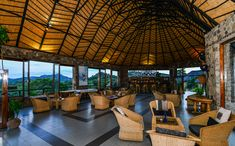 Internal view of the bar at Matobo Hills Lodge