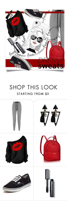 """""""Comfort is Key: Sweatpants"""" by kari-c ❤ liked on Polyvore featuring Markus Lupfer, Vans, Bobbi Brown Cosmetics, Casetify and sweatpants"""