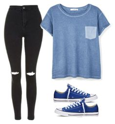 """""""Set #395"""" by melw44 ❤ liked on Polyvore featuring Topshop, MANGO and Converse"""