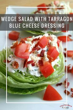 Wedge salad = summer recipe perfection!