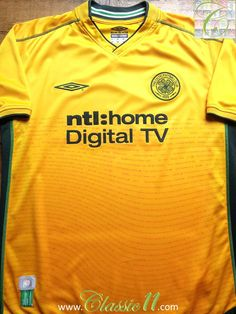21c04ac5a Relive Celtic s 2002 2003 season with this vintage Umbro away football shirt.  Vintage Football
