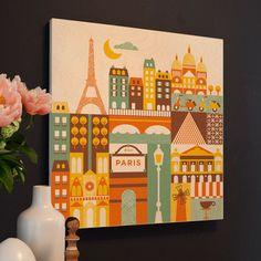 paris print for kiddos' room.