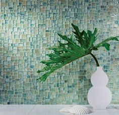 Another tiles from oceanside glasstile. the Muse collection of handcrafted mosaic glass tiles, which contain up to recycled content. The tiles come in more than 40 colors. Glass Mosaic Tiles, Wall Tiles, Oceanside Glasstile, Style Tile, Mosaic Patterns, Recycled Glass, Tile Design, Interiores Design, Timeless Design