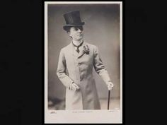 Film clip of  Music Hall Star and Male Impersonator Vesta Tilley 1920