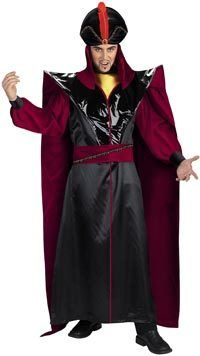 Jafar is the ultimate bad guy when you think about Disney movies.  Sure you have witches and evil sorcerers, but in most Disney films the bad person is a woman.  If you want to be the worst bad guy from a Disney film this year, but don't want to buy a {costume Jafar} just might be perfect.  We have materials and instructions listed below to help you make your costume.  ##Things you will need:## * Black robe * Red sash * Black cape, with red lining * Red and black hat * Red ...