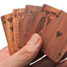 Let's play with wooden cards. 'LIFE Wooden cards'