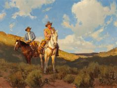 Bill Anton, Early Birds, oil on canvas, $9,500.  For more information about this painting, please contact the Great American West Gallery at 817-416-2600. SOLD