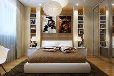 .Entwurf für das kleine Schlafzimmer