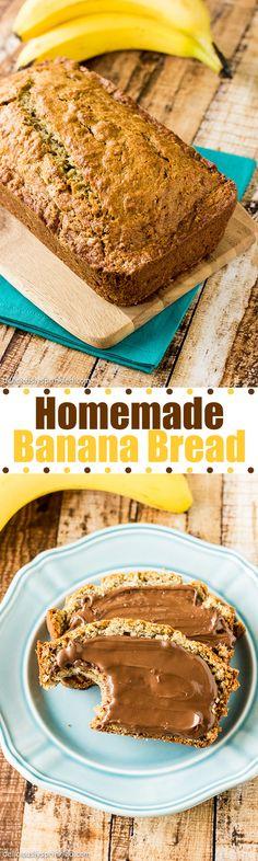 Homemade Banana Bread- The best banana bread recipe.