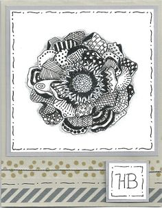 Zentangled Bloom HB by djolet - Cards and Paper Crafts at Splitcoaststampers