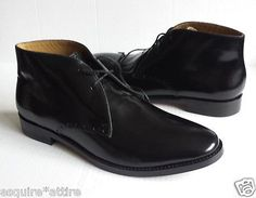 COLE HAAN men size 10.5 Cambridge Chukka Black Shiny #leather boots NIB ColeHaan visit our ebay store at  http://stores.ebay.com/esquirestore