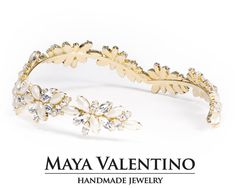 Bridal Crown Wedding Crown Bridesmaid Trend by MayaValentino