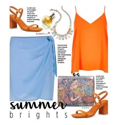 """""""Summer Brights"""" by beebeely-look ❤ liked on Polyvore featuring River Island, Three Floor, Maryam Keyhani, StreetStyle, Clutch, sammydress, StreetChic and summerbrights"""