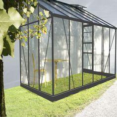 Serre Solarium adossée de 7,22m2 de surface en verre Transparent / gris anthracite - Serre - Les abris, serres et coffres d'extérieur - Meubles de jardin - Tous les meubles - Décoration d'intérieur - Alinéa
