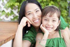 Chris Bernard   Edmonton Family Photographer   Mother and daughter wearing green summer portrait