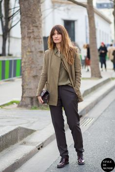 Paris Fashion Week FW 2015 Street Style: Caroline de Maigret