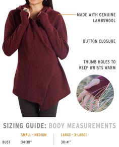 Magic-Hour Wrap Sweater Women's Crimson Wrap