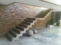 Argentinian concrete staircase Concrete Staircase, Staircases, Piano, Stairs, Loft, Industrial, Yard, Exterior, Decorations