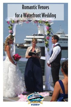 A wedding on the Ferry dock provides romance, a waterfront view, and no sand on your dress! Delaware Beach, Cape May Beach, Romantic Proposal, Wedding Cape, Waterfront Wedding, Fabulous Dresses, Anniversary Parties, Rehearsal Dinners, Beautiful Sunset