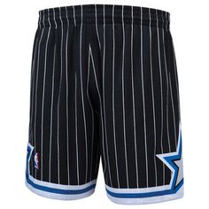 065b9b3c144 Authentic Orlando Magic NBA Pro Cut Worn Jersey Away Black Shorts ...