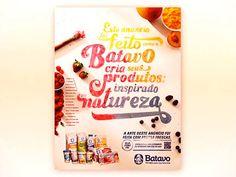 Anúncio da Batavo feito com tinta de frutas