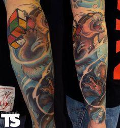 2x2 Rubik's cube tattoo