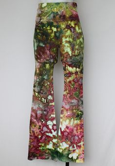 Tie dye Yoga Pants Ice Dye size Small  by ASPOONFULOFCOLORS