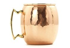 I just really want a set of these - have no idea what I would use them for, but I want them because they are copper and I love copper. S/2 Hammered Moscow Mule Mugs on OneKingsLane.com