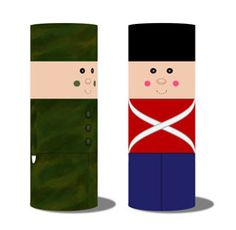 TP soldier craft (also classic toy soldier craft for Christmas)