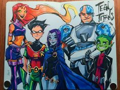 They found a way back ❤️ -- Teen Titans Go movie was A. Please pleeeease go watch it, support animation and a potential… Teen Titans Robin, Teen Titans Go Movie, Teen Titans Fanart, Teen Titans Love, Teen Titans Starfire, Cartoon Shows, Cartoon Art, Nightwing, Batwoman