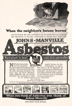 Johns Manville Asbestos, 1917