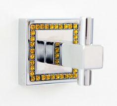 Bathroom Accessories With Swarovski Crystals bathroom#accessories#swarovski#inspiration#towel#hook#   bathroom