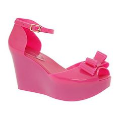 Bright pink platform jellies...bought today while shopping for kiddo shoes! LOVE THEM.