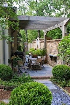 Thoughts for small backyard patios are interminable! Try not to be debilitated if your backyard is little and you figure it can't oblige a hard surface seating territory. A patio can be built in a corner easily. Simply consider how… Continue Reading → Small Patio Design, Backyard Ideas For Small Yards, Backyard Patio Designs, Small Backyard Landscaping, Pergola Patio, Diy Patio, Landscaping Ideas, Patio Ideas, Pergola Ideas