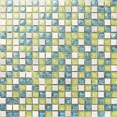 yellow mixed blue color crakle crystal glass mosaic& white stone tiles for kitchen backsplash tile bathroom shower mosaic tiles -in Mosaics from Home Improvement on Aliexpress.com | Alibaba Group