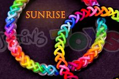 awesome How to Make a Sunrise #justinstoyshybrid Rainbow Loom Bracelet Tutorial