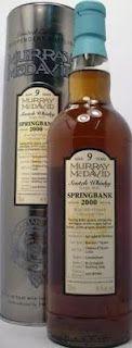 Whisky merchants: Springbank Scotch Whisky 9 year old 2000, Murray McDavid