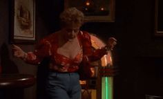 One of my favourite scenes in the whole series. Jessica goes under cover as a blowzy, drunk, flirty, gambling broad. She has surprisingly good décolletage and she looks far better in jeans than I'd expect.