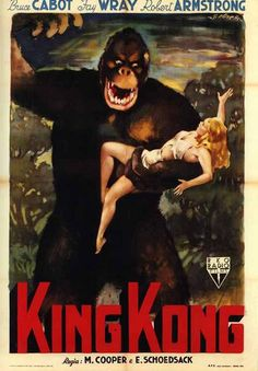 1933 King Kong Movie Poster Fridge Magnet with Fay by Vividiom, $3.50