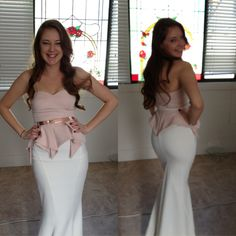 My bridal shower outfit  Valentine bustier Cruze maxi skirt Ella rose gold belt From Sheike