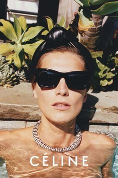 Top model, Daria Werbowy for Celine, photo taken by Juergen Teller. Daria Werbowy, Juergen Teller, Vogue, Celine Campaign, Lunette Ray Ban, Versace, Burberry, Star Francaise, Dior