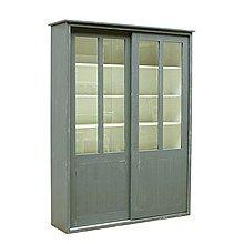 Timzowood Living Vitrinekast 220 x 168 cm 2 deurs - Antraciet Doorgeschuurd